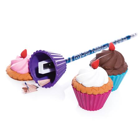 Cupcake Pencil Erasers With Sharpeners