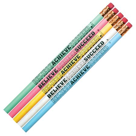 Character Pencil - Believe, Achieve, Succeed