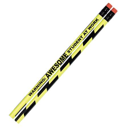 Motivational Pencil - Warning: Awesome Student At Work