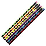 Paw Pride Pencil - Black With Neon Green Paws