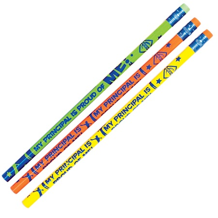 Principal's Award Pencil -  My Principal Is Proud of Me Bright and Bold Colors