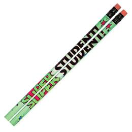 Motivational Pencil -  Green Super Student Superhero
