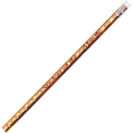 Motivational Pencil - Gold Holographic Student of the Month Holographic