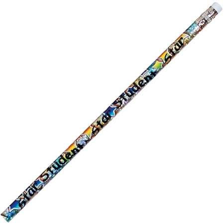 Motivational Pencil - Star Student Colorful Stars