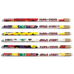 Anti-drug Pencil - Paws and Think, Drugs Stink
