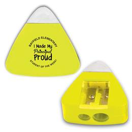 Triangle Pencil Sharpener With Built-in Eraser
