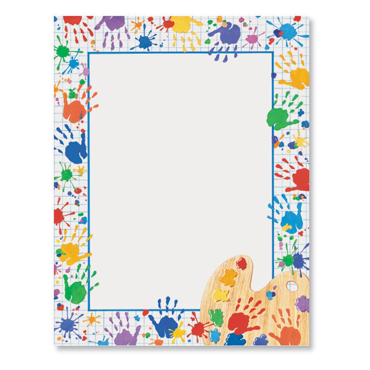 graphic about Printable Border Paper titled Handprints Border Printable Papers Andersons