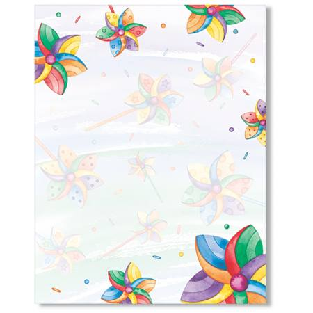 Colored Pinwheel Printable Papers