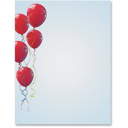 Red Balloons Printable Papers
