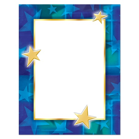 Purple and Teal Star Border Printable Papers