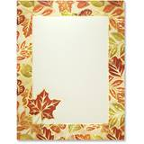 Fall Foliage Border Printable Paper