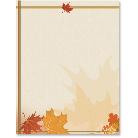 Autumn Accents Printable Paper