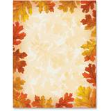 Fall Leaf Border Printable Paper