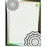 Spooky Spiderwebs Border Printable Paper