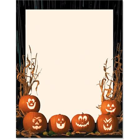 Glowing Jack-o-lanterns Printable Paper