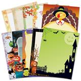 Thanksgiving and Halloween Printable Paper Variety Pack