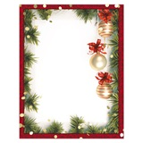 Holiday Tree Border Printable Paper