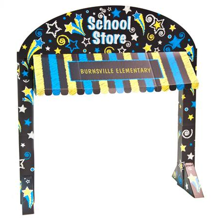 Stars School Store Table Awning Kit - Personalized