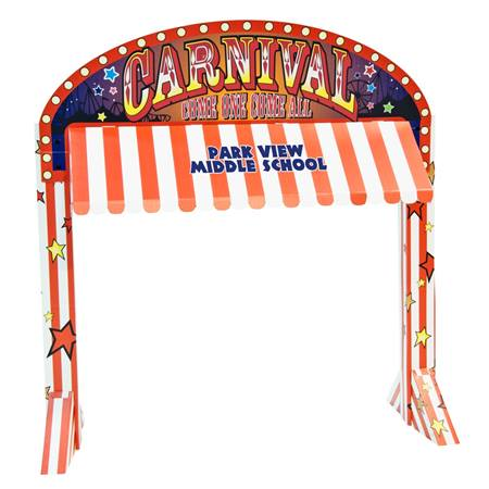School Carnival Table Awning Kit - Personalized