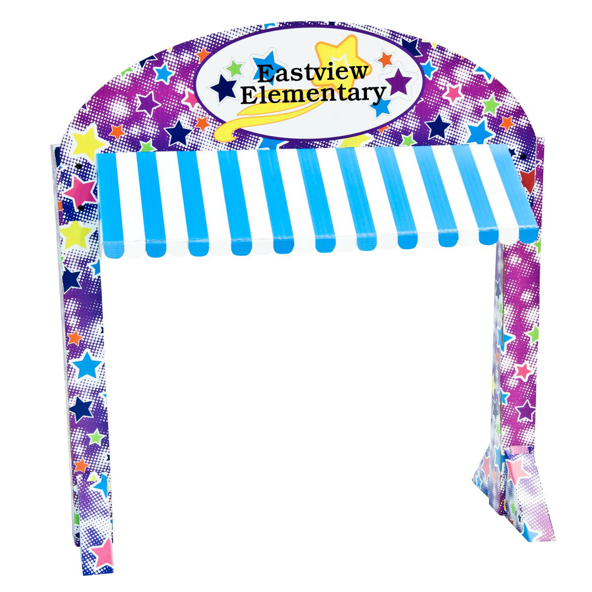 Colorful Stars Table Awning Kit - Personalized