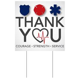 Square Yard Sign - Thank You
