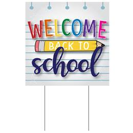 Square Yard Sign - Welcome Back to School