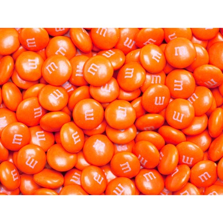 Orange M&M's® Milk Chocolate Candy - 5 lbs.