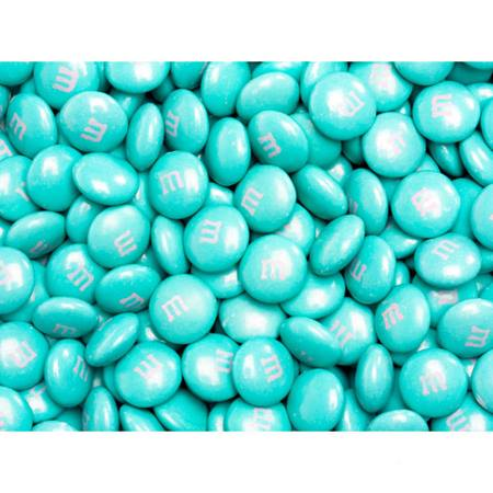 Aqua M&M's® Milk Chocolate Candy - 5 lbs.