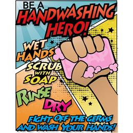 Bathroom Decal - Hand Washing Hero