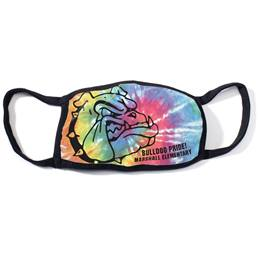 Custom Full-color Face Mask - Tie-dye School Mascot