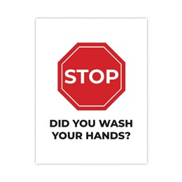 Wall Decal - Stop! Did You Wash Your Hands?