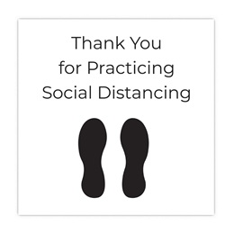 Floor Decal - Thank You For Practicing Social Distancing