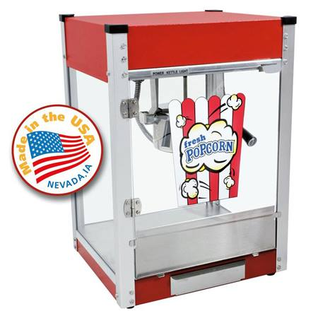 Cineplex Red 4 ounce Popcorn Machine