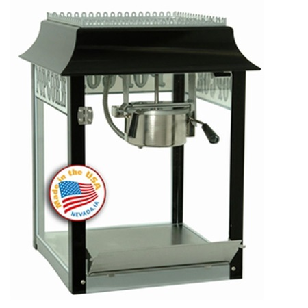 4 ounce Black/Chrome Popcorn Machine