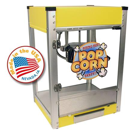 Cineplex Yellow 4 ounce Popcorn Machine