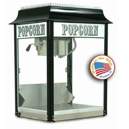 8 ounce Black/Chrome Popcorn Machine