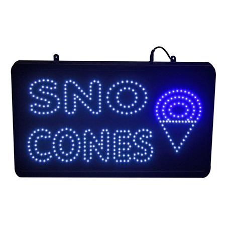 LED Sno Cone Lighted Sign