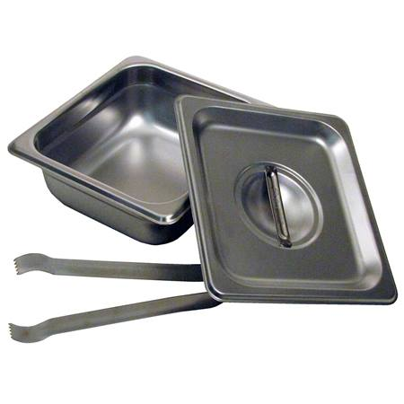 "2.5"" Steam Pan Set with Lid/Tongs"