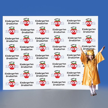 Kindergarten Apples Step and Repeat Wall
