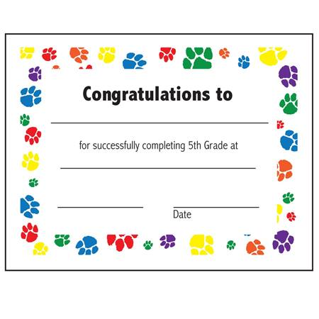 Th Grade Completion Certificate  AndersonS