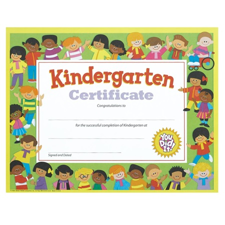 Kindergarten Certificate - Colorful Kids