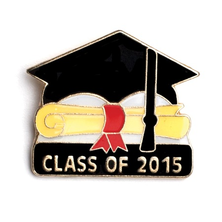 Graduation Award Pin - Cap and Scroll 2015