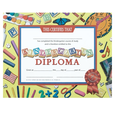 Kindergarten Diploma - School Time