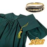 Matte Graduation Set With Ring