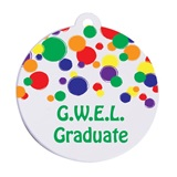 Custom Graduation Tassel Charm - Colorful Bubbles