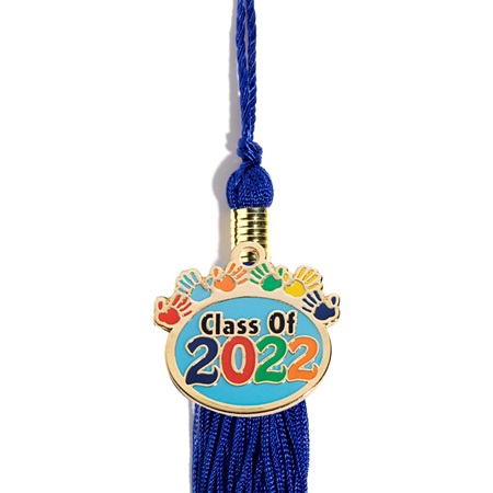 Graduation Tassel With 2017 Handprints Charm