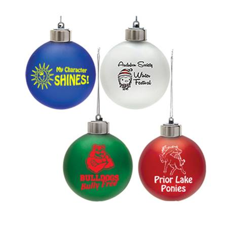 Light-up Frosted Ball Ornament