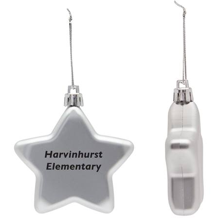 Holiday Ornament - Flat Star
