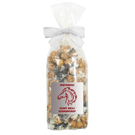 White and Dark Chocolate Swirl Popcorn Gift Bag