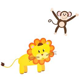 Jungle Animals (set of 4) and Vine Kit